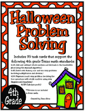 Halloween Problem Solving: 4th Grade TEKS 4.4A, 4.4H, 4.5A, 4.10B STAAR Practice