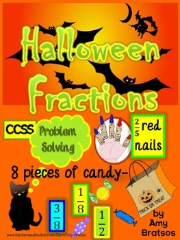 Halloween Problem Solving Activities with Fractions