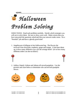 Halloween Problem Solving: Critical Thinking Aligned to the Common Core