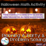 Halloween Problem Solving Math Lab: The Party Problem (CCSS Aligned)
