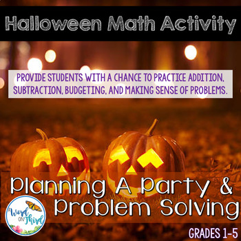 Halloween Math Activity: Planning A Party & Problem Solving