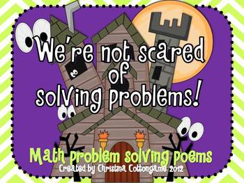 Halloween Problem Solving Poems