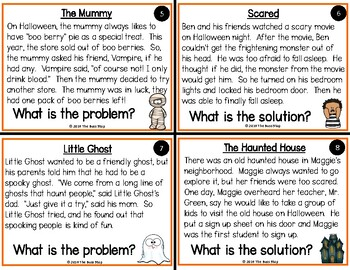 Halloween Problem and Solution Task Cards