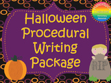 Halloween Procedural Writing Package