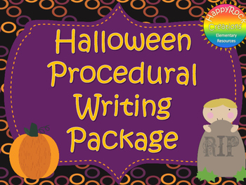 Halloween Procedural Writing Package