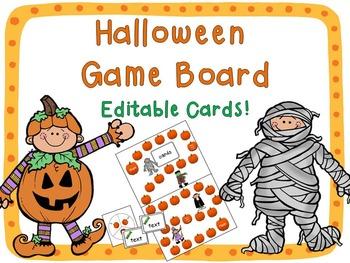 Halloween Game Board {Editable!}