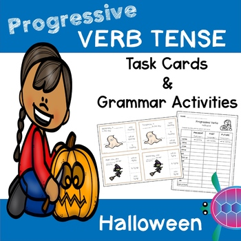 Progressive Tense Verbs - Halloween