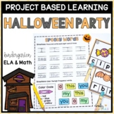 Halloween Project Based Learning October - Kindergarten