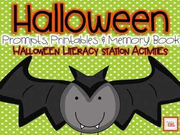 Halloween: Prompts, Printables and Memory Book {Literacy Station Activities}