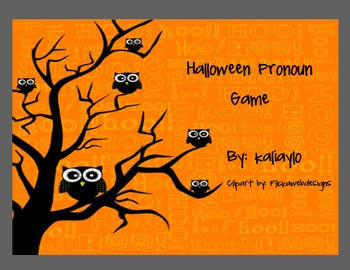 Halloween Pronoun Game