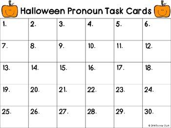 Halloween Pronoun Scoot