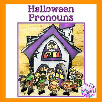 Halloween Pronouns:  He, she, they, her, his and their