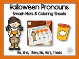 Halloween Pronouns Smash Mats & Coloring Sheets