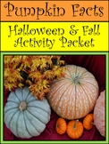 Halloween Pumpkin Activities: Pumpkin Facts Fall Activity Packet