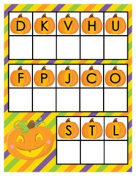 Halloween Pumpkin Alphabet Matching Activity