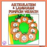 Halloween Pumpkin Articulation and Language Wreath Craft