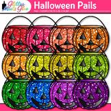 Buckets of Pumpkin Clip Art {Trick-or-Treat Halloween Grap