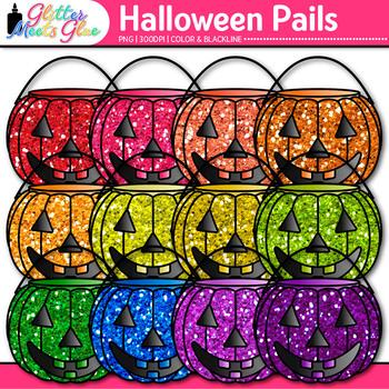 Buckets of Pumpkin Clip Art: Halloween Graphics {Glitter Meets Glue}