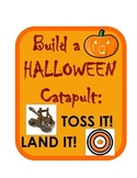 Halloween Pumpkin Candy Catapult Engineering Science Challenge STEM