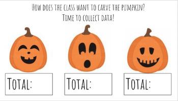 Halloween Pumpkin Carving Graphing Activity! (Google Slides)