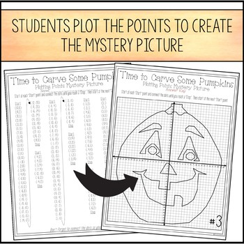 Halloween Pumpkin Carving Plotting Points - Mystery Picture