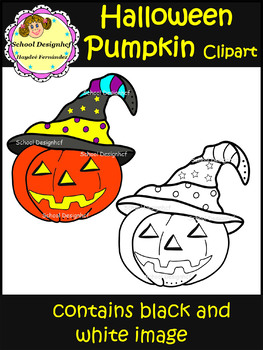Halloween Pumpkin Clip Art / Jack-O-Lantern (School Designhcf)