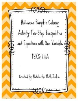 Fall Pumpkin Color Activity w/ Two-Step Equations & Inequalities