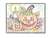 Halloween Physics Color by Number Pumpkin Velocity, Acc, F