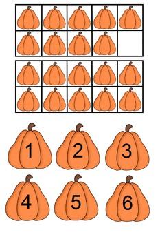 Halloween Pumpkin Count File Folder