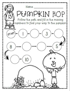 Halloween Pumpkin Counting 1-10 Activities