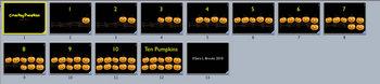 Halloween Pumpkin Counting Movies - 1-10