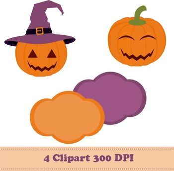 Halloween Pumpkin Digital Paper + Clipart