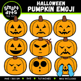 Halloween Pumpkin Emoji Clip Art