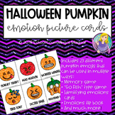 Halloween Pumpkin Emotion Picture Cards