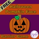 Halloween Pumpkin Face Barrier Game