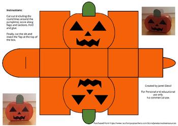 Halloween Pumpkin Gift Box