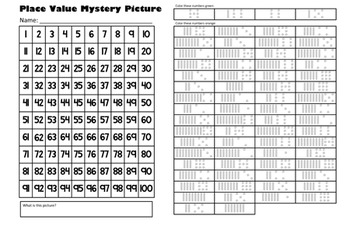 Halloween Pumpkin & Jack O'Lantern Place Value Math Mystery Picture Pack - 11x17