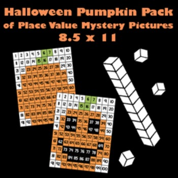 Halloween Pumpkin & Jack O'Lantern Place Value Math Mystery Picture Pack -8.5x11