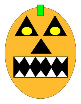 Halloween Pumpkin Kindergarten Art Project Cut Paste Paint Color Bulletin Board