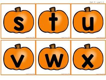 Halloween Pumpkin Letter Matching Activity