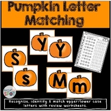 Halloween Pumpkin Letter Matching Activity