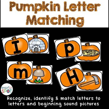 Halloween Pumpkin Letter/Sound Matching Activity