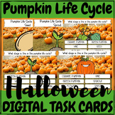 Halloween Pumpkin Life Cycle - DIGITAL TASK CARDS