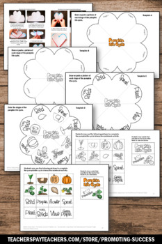 Pumpkin Life Cycle, Science Interactive Notebook, Halloween Craftivity