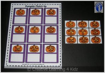Halloween Pumpkin Match Up Board + Pumpkin Memory Cards