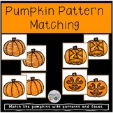 Halloween Pumpkin Pattern Matching Activity