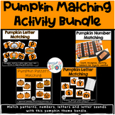 Halloween Pumpkin Matching Letters and Numbers Bundle Acti