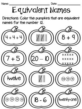 Halloween Pumpkin Math
