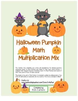 """Halloween Pumpkin Math"" Mixed Multiplication - Common Cor"