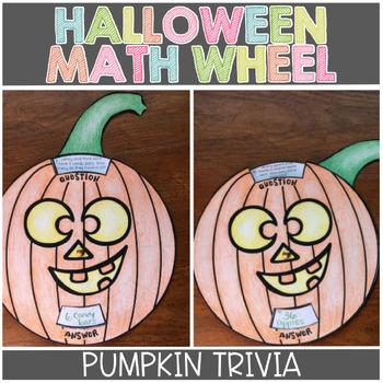 Halloween Pumpkin Math Trivia Wheel